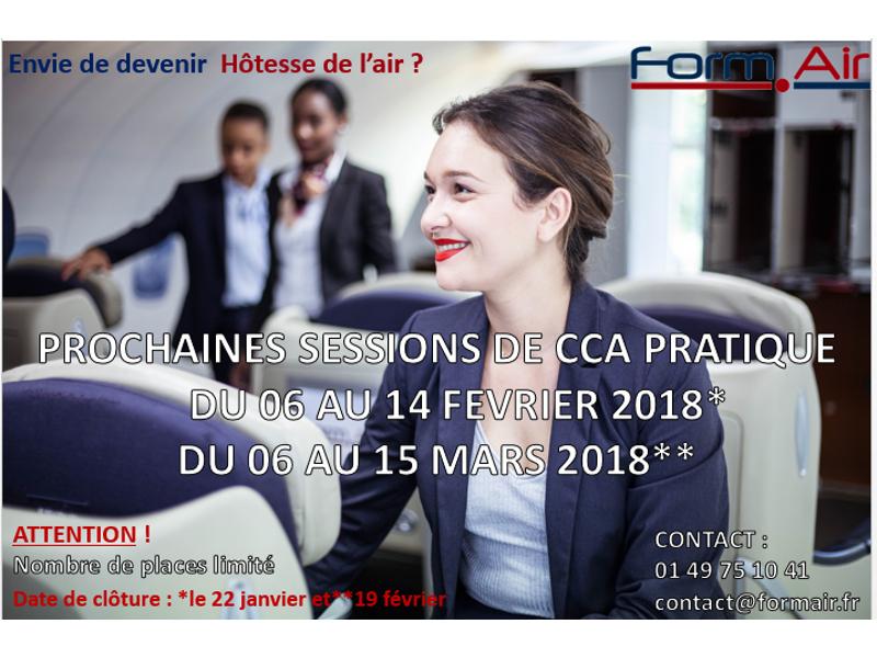 Prochaines sessions CCA Pratique