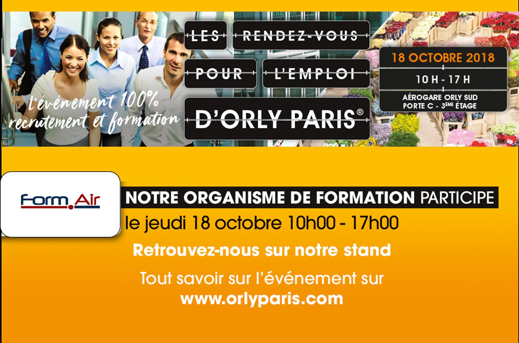 Les rendez vous pour l'emploi : Orly Paris