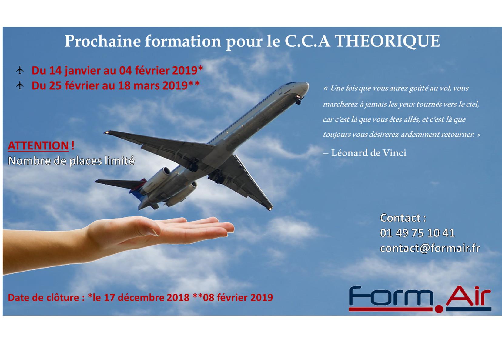 Inscription 2019 : C.C.A Théorique