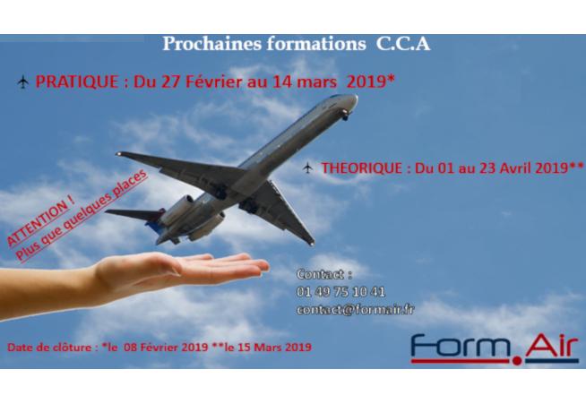 Prochaine formation CCA Theorique et Pratique